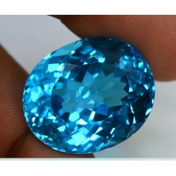 17.40 CT Blue Topaz Gemstone 0044