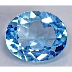 5 CT Blue Topaz Gemstone 0028