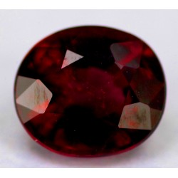 Red Rubellite Tourmaline 1.0 CT Oval Gemstone Afghanistan 0204