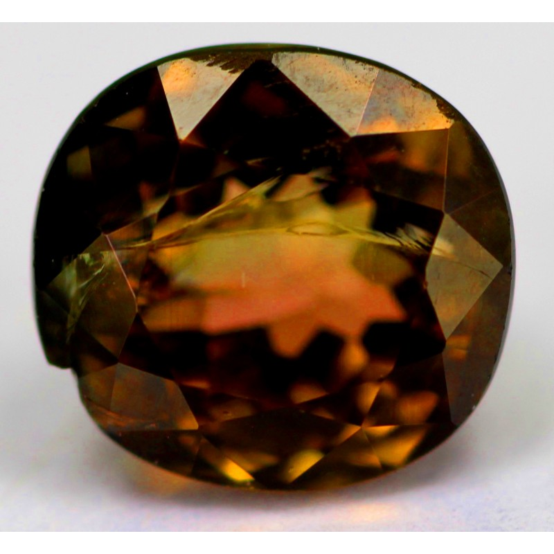 orange tourmaline 20 ct gemstone afghanistan 0106