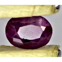 Ruby 0.5 CT Oval Red Gemstone Kashmir 0063