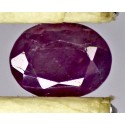 Ruby 2.0 CT Oval Red Gemstone Kashmir 0077