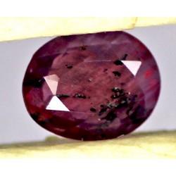 Ruby 0.5 CT Oval Red Gemstone Kashmir 0080