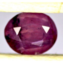 Ruby 0.5 CT Oval Red Gemstone Kashmir 0082
