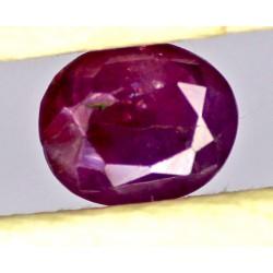 Ruby 0.5 CT Oval Red Gemstone Kashmir 0085