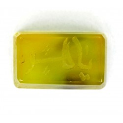 8.5 CT Yellow Color Agate Gemstone Afghanistan 117