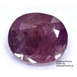 Ruby 1.5 CT Oval Red Gemstone Kashmir 0176