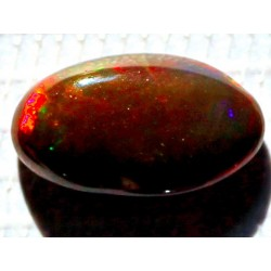 100% Natural Black Opal 4.0 CT Gemstone Ethiopia 0211